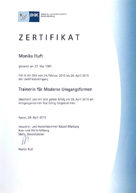 IHK-Zertifikat-Monika-Huft-Trainerin-Moderne-Umgangsformen